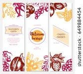 berries   vector hand drawn... | Shutterstock .eps vector #649884454