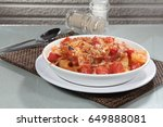 baked dish | Shutterstock . vector #649888081