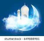 illustration for the muslim... | Shutterstock .eps vector #649888981
