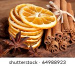 Sliced Of Dried Orange With...