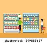 best choice in supermarket...   Shutterstock . vector #649889617