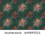 textile print for bed linen ... | Shutterstock . vector #649895521