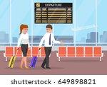 businessman and businesswoman... | Shutterstock .eps vector #649898821