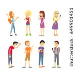 set of human emotions. quarrel. ... | Shutterstock . vector #649901431