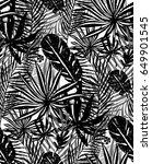 seamless trendy black pattern... | Shutterstock .eps vector #649901545