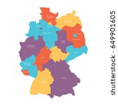 map of germany devided to 13... | Shutterstock .eps vector #649901605