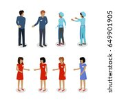 set of sellers characters ... | Shutterstock . vector #649901905