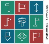 pointer icons set. set of 9... | Shutterstock .eps vector #649906201