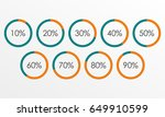 circle diagram set with... | Shutterstock . vector #649910599