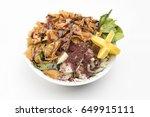 lebanese salad  fattouch salad...   Shutterstock . vector #649915111