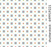 happy birthday seamless pattern ... | Shutterstock .eps vector #649919221