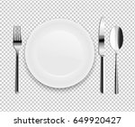 plate with spoon gradient mesh  ... | Shutterstock .eps vector #649920427