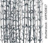 bamboo forest background. black ... | Shutterstock .eps vector #649920817