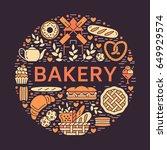 bakery  bread house poster... | Shutterstock .eps vector #649929574