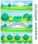 park in summertime and nice... | Shutterstock .eps vector #649932715