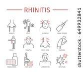 rhinitis. symptoms  treatment.... | Shutterstock . vector #649932841