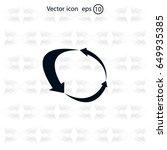 arrow circle icon   cycle  loop ...   Shutterstock .eps vector #649935385