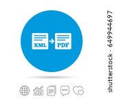 export xml to pdf icon. file... | Shutterstock .eps vector #649944697