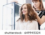 Closeup Hairdresser Makes...