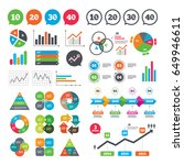business charts. growth graph.... | Shutterstock .eps vector #649946611