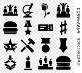one icons set. set of 16 one... | Shutterstock .eps vector #649946851