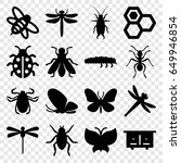 insect icons set. set of 16... | Shutterstock .eps vector #649946854