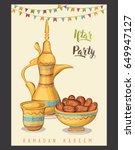 ramadan kareem  iftar... | Shutterstock .eps vector #649947127