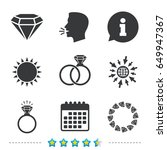 rings icons. jewelry with shine ... | Shutterstock .eps vector #649947367