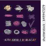 set of 14 trendy smeared vector ... | Shutterstock .eps vector #649947379