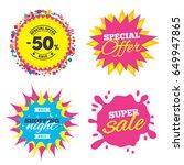 sale splash banner  special... | Shutterstock .eps vector #649947865