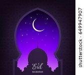 eid mubarak. ramadan islamic... | Shutterstock .eps vector #649947907
