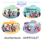 world refugee day promotional... | Shutterstock .eps vector #649951627