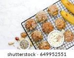 healthy cookies cottage cheese...   Shutterstock . vector #649952551