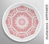 decorative plate with round...   Shutterstock .eps vector #649954855