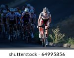 BLOEMFONTEIN, SOUTH AFRICA - NOVEMBER 7: Unidentified cyclist during the annual OFM Classic cycle race on November 7, 2010 in Bloemfontein, South Africa. - stock photo