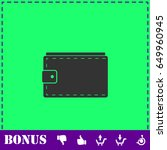 purse icon flat. simple...