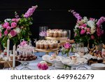 the wedding composition of... | Shutterstock . vector #649962679