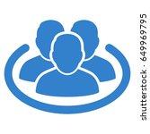 cobalt social ring toolbar... | Shutterstock .eps vector #649969795