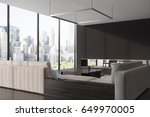 side view of a panoramic living ...   Shutterstock . vector #649970005