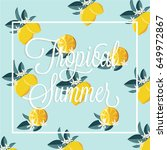 summer vector card | Shutterstock .eps vector #649972867