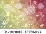 dark red  green  yellow vector... | Shutterstock .eps vector #649982911