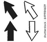 pixel cursors mouse arrow... | Shutterstock .eps vector #649984609