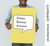 Small photo of Dream Believe Achieve Aspiration Motivation Vision