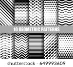 vector set of ten geometric... | Shutterstock .eps vector #649993609