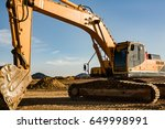 close up of a construction site ... | Shutterstock . vector #649998991