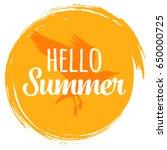 hand written phrase hello...   Shutterstock .eps vector #650000725