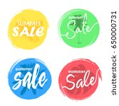 summer sale hand drawn... | Shutterstock .eps vector #650000731