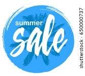 summer sale. special offer... | Shutterstock .eps vector #650000737