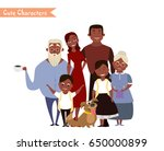 big happy family portrait.... | Shutterstock .eps vector #650000899