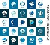 vector logo globe | Shutterstock .eps vector #650010469